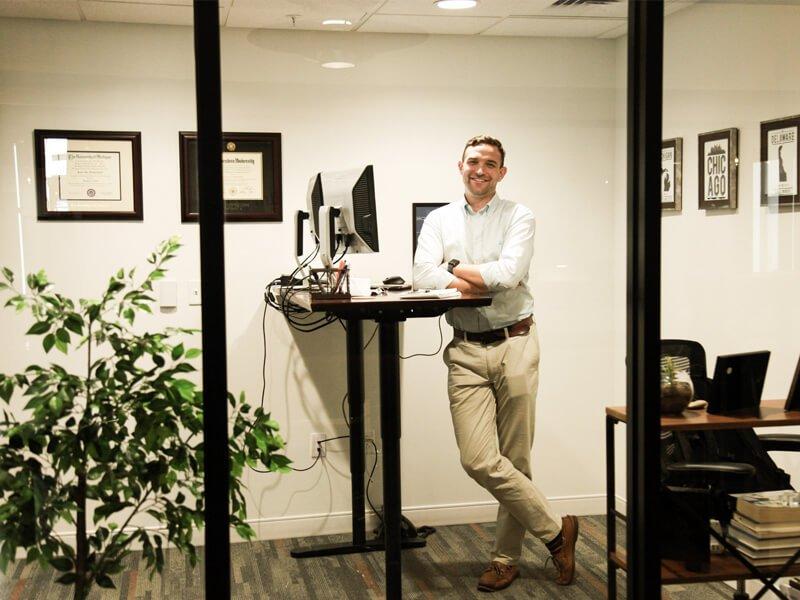 MorningStar staff inside his office at The Mill