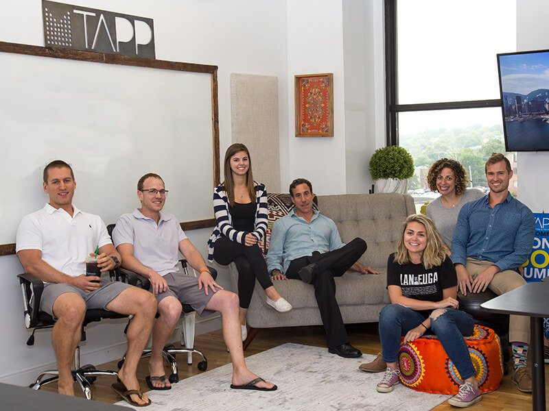 Tapp Network employees at The Mill