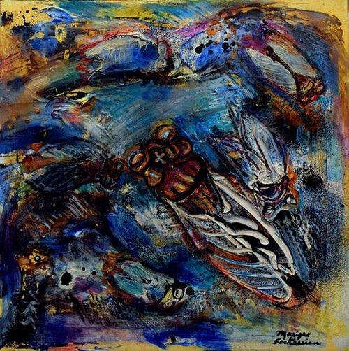 An artwork by Monique Sarkessian